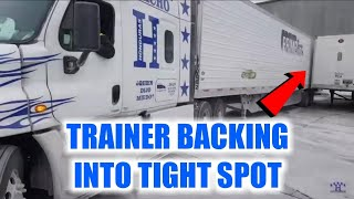 Trainer Backing Truck Into Super Tight Spot