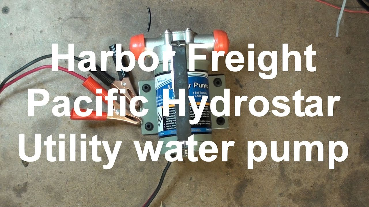 harbor freight pacific hydrostar utility water pump you [ 1280 x 720 Pixel ]