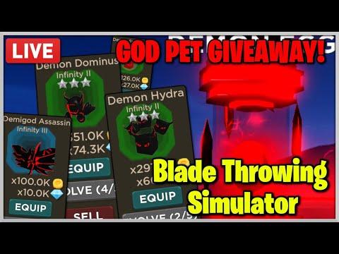 I Got The Demonic Hydra Pet Best Possible Pet Roblox - Demon Pet Giveaway Roblox Blade Throwing Simulator