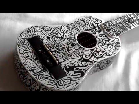 Custom Ukulele - Tribal Design - Hand Painted