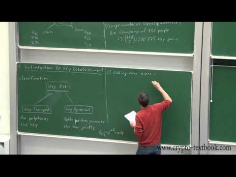 Lecture 23: Symmetric Key Establishment and Kerberos by Christof Paar