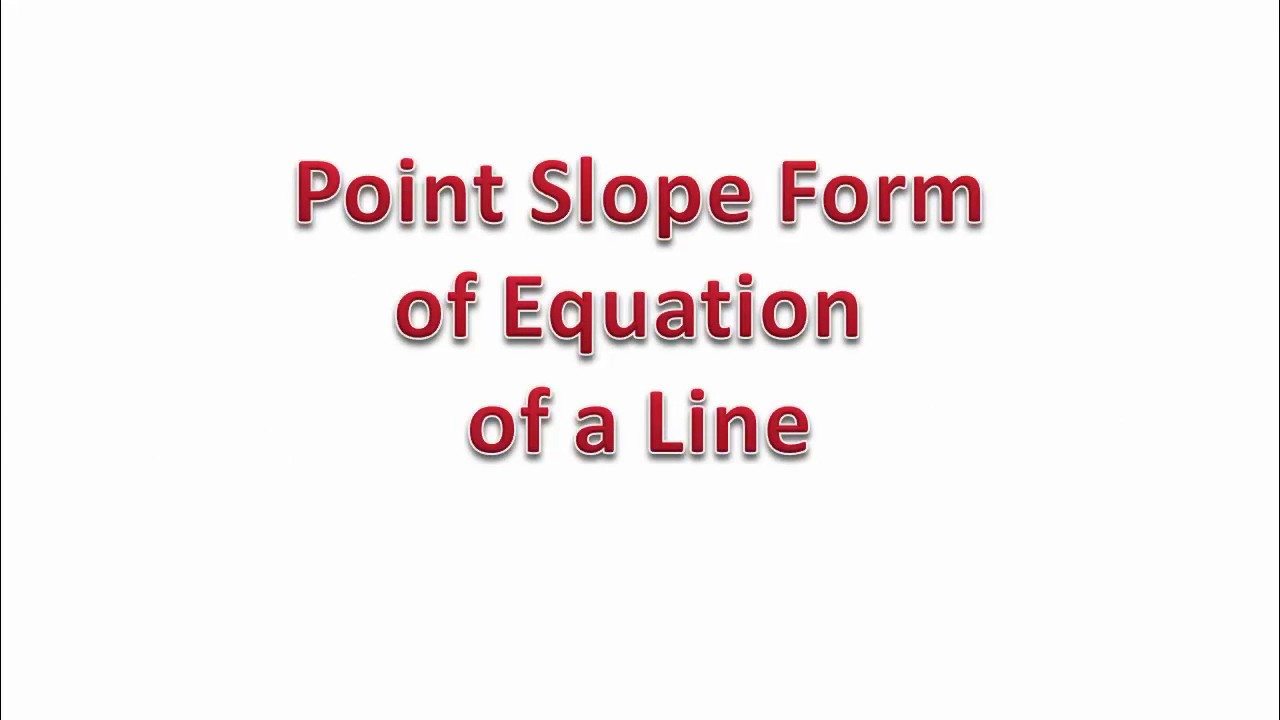 Point slope form of equation of a line hindi youtube point slope form of equation of a line hindi falaconquin