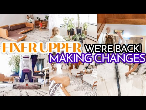 RENOVATING OUR RANCH FIXER UPPER | WE'RE GETTING BACK TO WORK! | STAIRWELL AND LIVING ROOM MAKEOVER - Denise Bangiyev