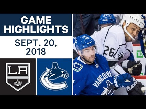 NHL Pre-season Highlights | Kings vs. Canucks - Sept. 20, 2018