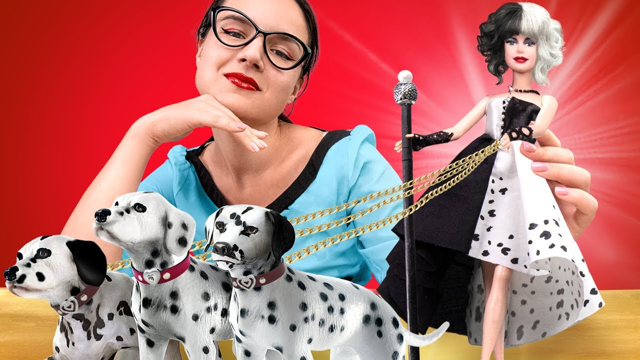 Cool Hacks and Crafts for Dolls / How To Make A Cruella Doll