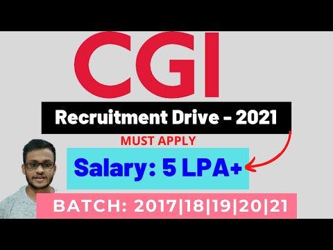 Best Opportunity🔥 - CGI Recruitment Drive: 2021 Exp: 0-2 Years Junior Quality Engineer – Data .