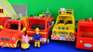 Fireman Sam Episode Pontypandy Jupiter Venus 4x4 peppa pigs fire engine