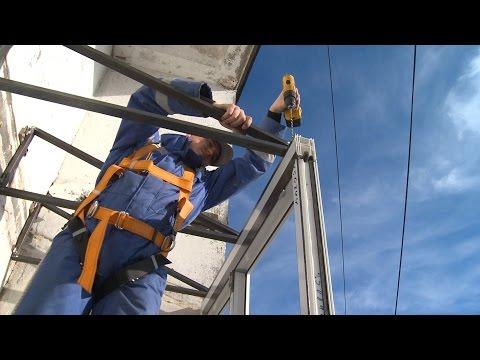 Максимус окна - монтаж крыши на лоджии