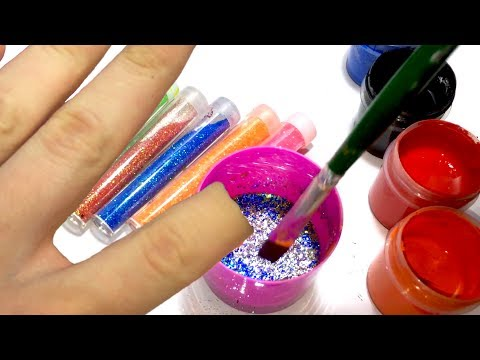 Learn Colors with Magic Invisible Paint | How To Make Invisible Paint from Glitter kids finger