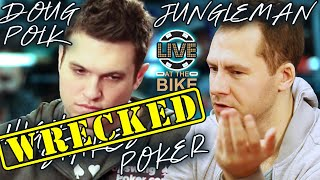 Doug Polk WRECKED in High Stakes Poker Game ♠ Live at the Bike!