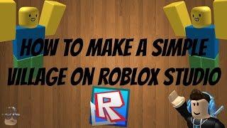 Cómo construir un pueblo simple (Roblox)