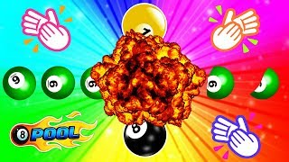 GREEN BALL EXPLODES THE YELLOW AND BLACK BALL - 8 Ball Pool Awesome Escape