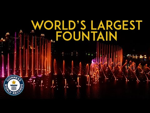 The world's largest Fountain is now in DUBAI 2020. The Palm Fountain | The Pointe Dubai