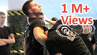 Krav Maga technique: How to escape from Guillotine choke. Real tech...