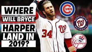 Top 5 Potential BRYCE HARPER Free Agency Destinations In 2019
