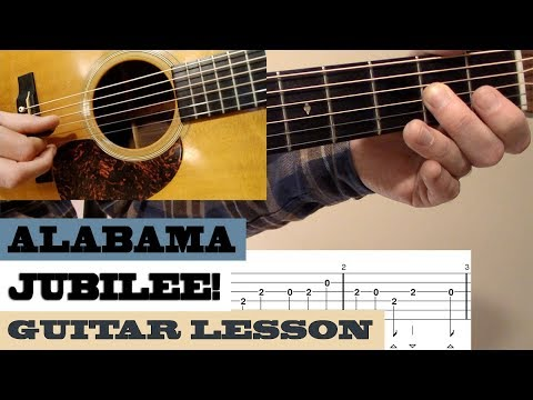 """Alabama Jubilee"" | Doc Watson - Intermediate Bluegrass Guitar Lesson With TAB"
