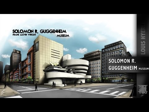 Solomon R  Guggenheim Museum, Architecture Speed Painting #2
