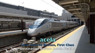 Amtrak - Riding acela First Class - New York to Boston