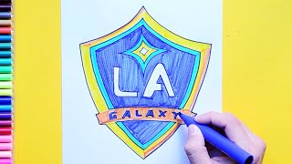 How to draw and color the LA Galaxy Logo - MLS Team Series