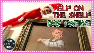 ELF ON THE SHELF DAY 12 - DRAWING FUNNY FACES