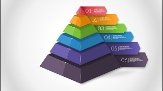 How to create 3D pyramid  in Microsoft PowerPoint. PPT tricks.