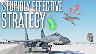 HUMILIATING FLIGHT SIM PLAYERS WITH THIS STUPID STRATEGY - DCS World J-11 Gameplay