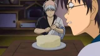 [Gintama] Gintoki Sakata makes a cake at Shinpachi's dojo thumbnail