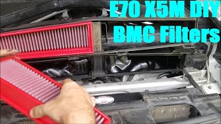 homepage tile video photo for E70 BMW X5M BMC Air Filter Install DIY (and Charcoal Filter Delete)
