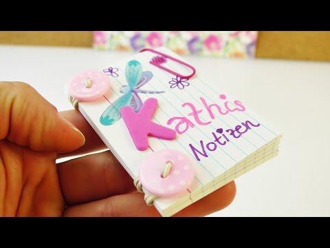 Mini Notizbuch selber machen | für die Schule & als Geschenk | praktisch für die Handtasche