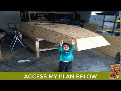Homemade Wooden Jon Boat Build - Making a Wooden Boat Plan