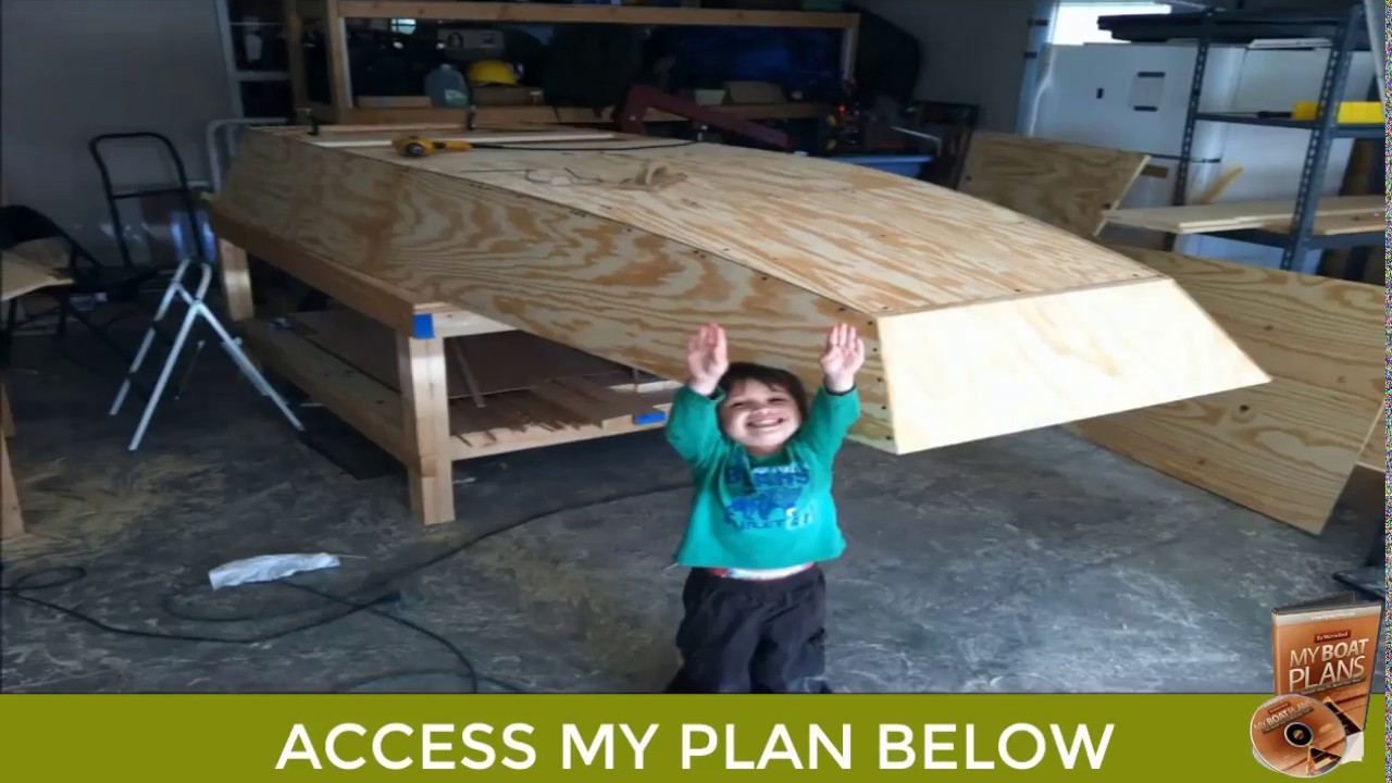Homemade Wooden Jon Boat Build - Making a Wooden Boat Plan - YouTube