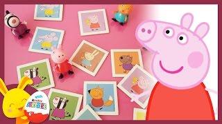 Peppa Pig - Le jeu de Mémory - memo game avec Touni Toys