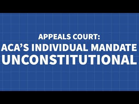 Appeals Court Rules ACA's Individual Mandate Unconstitutional