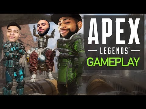 APEX LEGENDS GAMEPLAY | HIGH KILL FUNNY GAME!? - NEW BATTLE ROYALE! Ft. Myth & Hamlinz thumbnail