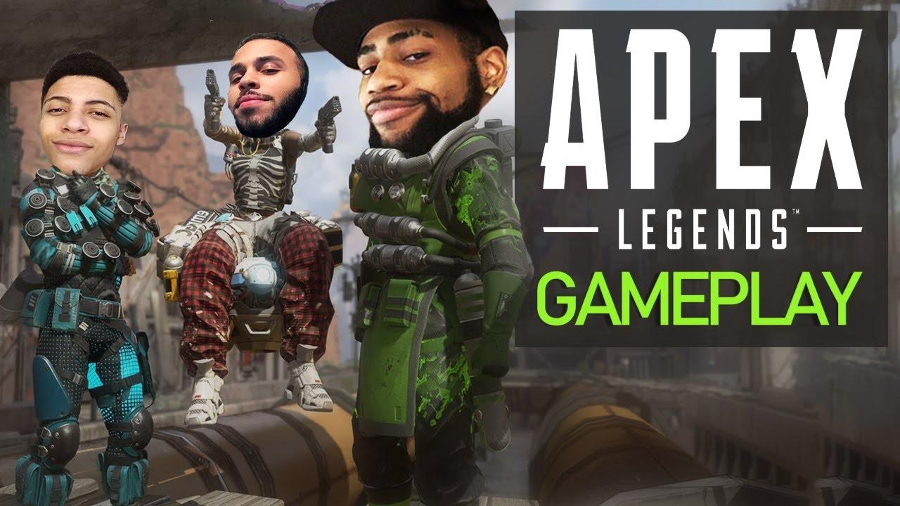 APEX LEGENDS GAMEPLAY | HIGH KILL FUNNY GAME!? - NEW BATTLE ROYALE! Ft. Myth & Hamlinz