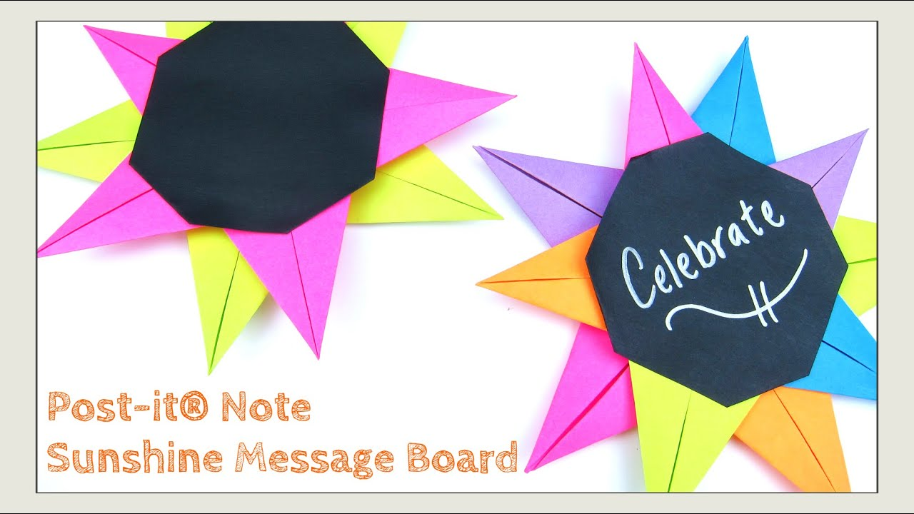 Sticky paper for crafts - Paper Crafts Diy Post It Note Crafts Sunshine Message Board