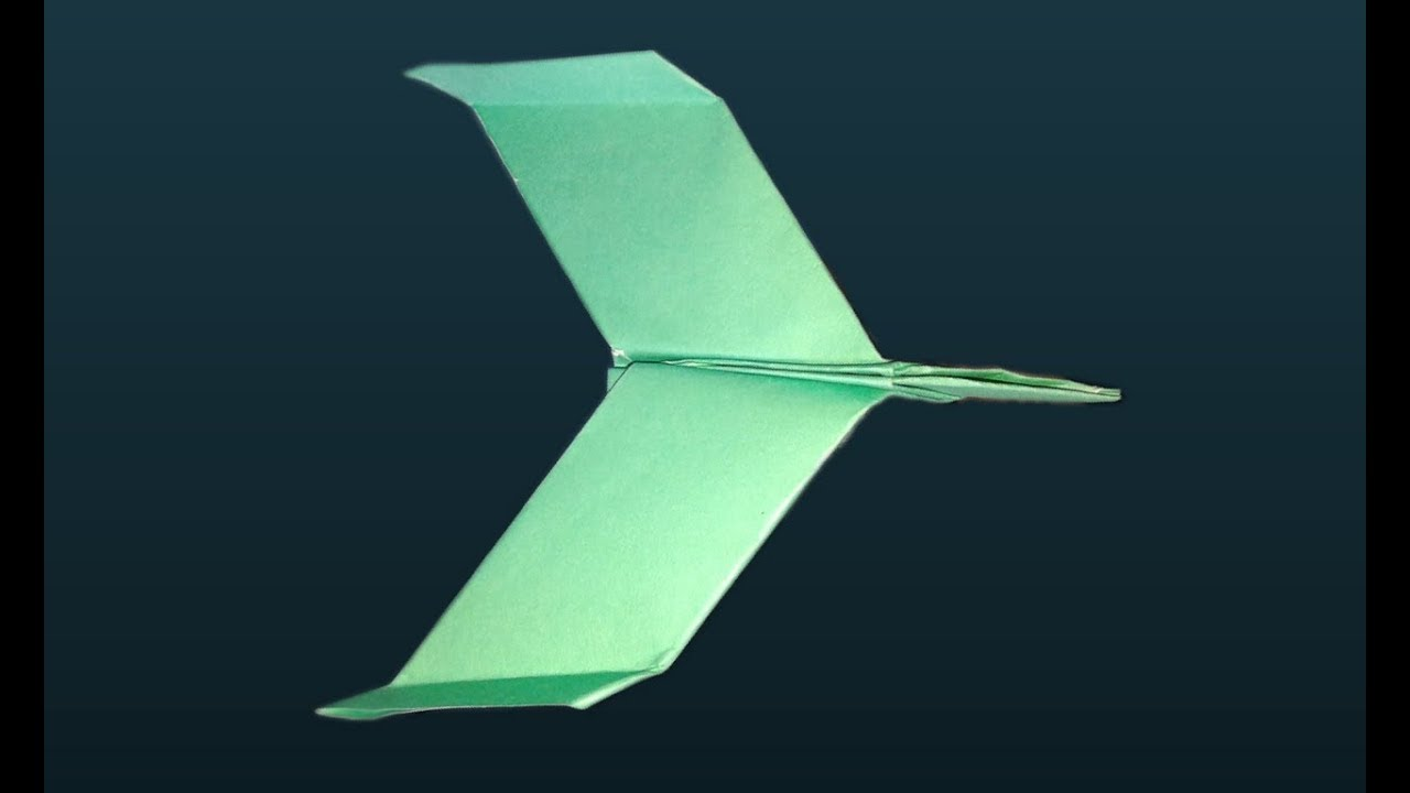 Papierflieger Anleitung Jet Flugzeug Basteln Aus Pappe Paper