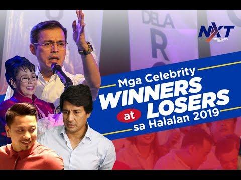 Mga celebrity winners at losers sa Halalan 2019