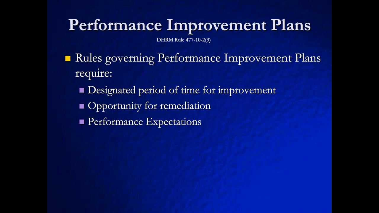 Performance improvement action plan template