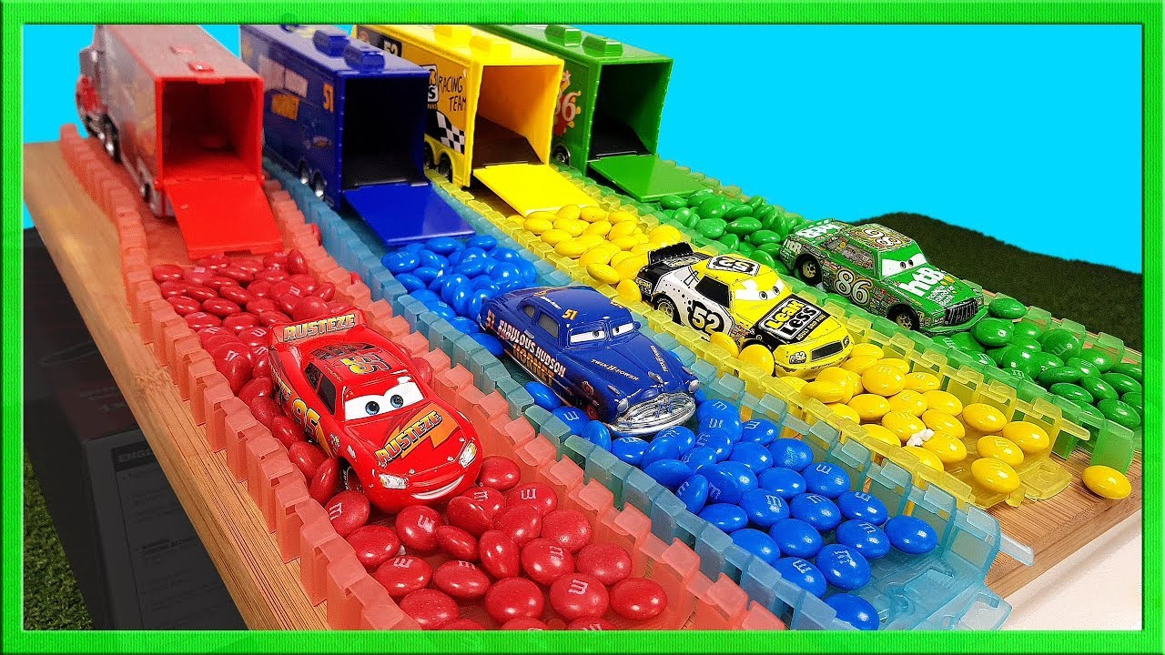 Learn Colors with Disney Cars Lightning Mcqueen and
