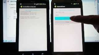 Android Server/Client example - server side using ServerSocket