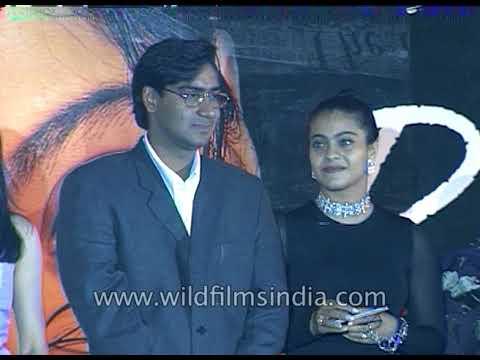 Ajay Devgan, Mahima Chaudhry And Kajol At Audio Release Of Film 'Yeh Dil Kya Kare'