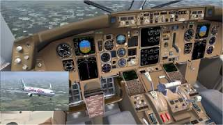 FSX Caribbean Airlines 767 Miami Stormy Landing