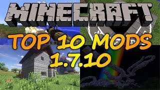 Top 10 Minecraft Mods (1.7.10) - April 2017