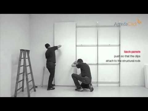 Montaggio cabina armadio joyce tutorial completo youtube for Ante per armadio in cartongesso