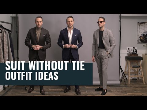 5 Ways To Wear A Suit Without A Tie | Casual Suit Outfit Ideas | Men's Fashion