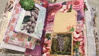 Using junk mail in a junk journal / double pocket layout