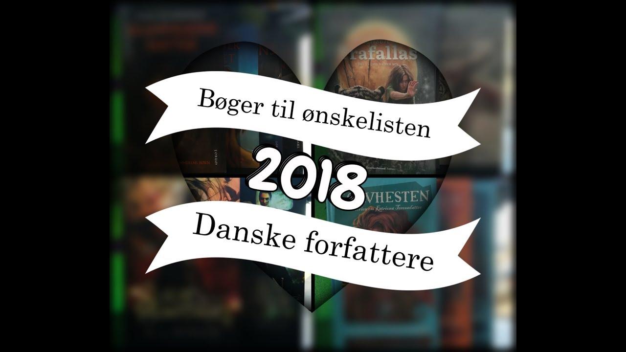 Bøger til ønskelisten 2018 - Danske forfattere // Karina's verden