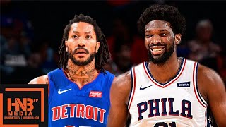 Philadelphia Sixers vs Detroit Pistons - Full Game Highlights | October 15, 2019 NBA Preseason