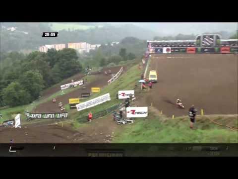 Evgeny Bobryshev crash MXGP of Czech Republic MXGP Race 2 - 2016
